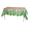 RTD-1470 - 6 foot Bamboo and Palm Leaf Plastic Tablecloth