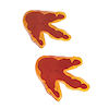 RTD-1471 - Dinosaur Tracks Footprint Floor Clings for Party Decorations