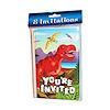 RTD-1496 - 8-pack Dinosaur Birthday Party Invitations w/Envelopes