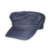 RTD-1538 - Toddlers Deluxe Blue Train Engineer Hat w/ Adjust. Touch Fastener