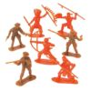 RTD-1558 - Assorted Plastic Cowboys and Indians Figures Toy Soldiers