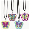 RTD-1841 - Rubber Butterfly Necklaces