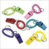 RTD-1842 - Plastic Whistle Expando Bracelet Key Chain