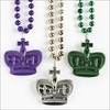 RTD-1905 - Metallic Crown Bead Necklace