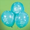 RTD-2182 - Blue Its A Boy Baby Shower Latex Balloon