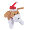 RTD-2186 - Plush Christmas Puppy Dog wearing Santa Hat