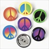 RTD-2213 - Metal Peace Sign Mini Buttons