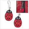 RTD-2364 - Rubber Ladybug Zipper Pull Charm