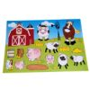RTD-2474 - 12-pack of Farm Barnyard Make A Scene Sticker Sheets