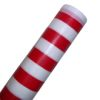 RTD-2484 - Roll of Red and White Striped Table Cloth 100 ft x 40 in