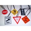 RTD-2490 - Christian Road Sign Plastic Charm Necklaces