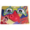 RTD-2520 - Rubber Circus Clown Nose on Plastic Glasses