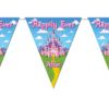 RTD-2531 - Princess Party Pink Castle 12 ft Pennant Banner