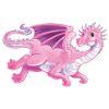 RTD-2535 - Pink Flying Dragon Window Cling