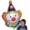 RTD-2576 - Giant 33 inch Circus Clown Head Mylar Foil Balloon