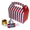 RTD-2609 - Mini Red and White Candy Cane Striped Treat Box