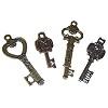 RTD-2662 - Inspirational Metal Skeleton Key Charms