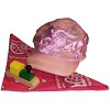 RTD-2680 - Girl's Train Party Hat w/ Scarf and Train-shaped Whistle