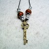 RTD-2713 - Family Key Charm 26 inch Cord Necklace w/Beads