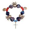 RTD-2777 - Owl - Faith - Grace Lampwork Bracelet