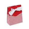 RTD-2793 - Small Cardboard Red Tent Favor Box w/ Bow