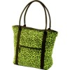 RTD-3097 - Extreme Pak Neon Green Leopard Print Shopping Tote