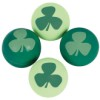 RTD-3369 - St. Patrick's Day Shamrock Rubber Bouncy Ball