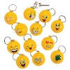 RTD-3611 - Goofy Smiley Face Emoji Stress Ball Key Chain