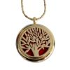 RTD-3651 - Essential Oils Aromatherapy Golden Tree of Life Locket Necklace