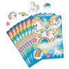 RTD-3869 - Unicorn Sticker Sheet with 24 Stickers