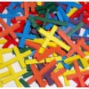 RTD-3894 - Assorted Colorful Wood Crosses w/ Hole for Cord