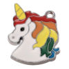RTD-3905 - Rainbow Unicorn Head Enamel Charms