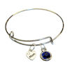 RTD-3932 - Blue Crystal Mom XOXO Heart Charm Bracelet