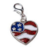RTD-3936 - Patriotic USA Flag Heart Charm