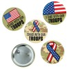 RTD-3951 - Support Our Troops Patriotic Button Pins