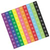 RTD-3975 - 100 Colorful Paw Print Stickers