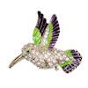 RTD-3985 - Hummingbird Rhinestone Crystal Brooch Pin