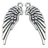 RTD-3988 - Pair of Silver Angel Wings Charms