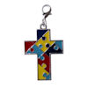 RTD-3991 - Autism Puzzle Piece Cross Charm