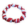 RTD-4006 - Red and White Stretchy Christmas Candy Cane Bracelet