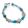 RTD-4007 - Ocean Pearl Turtle Seashell Bracelet