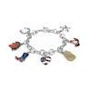 RTD-4009 - Western Charm Silver Teardrop Chain Bracelet