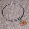 RTD-4014 - Fall Jack-O-Lantern Bangle Bracelet
