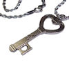 RTD-4020 - Love Heart Key Charm Necklace w/ Stainless Steel Rope Chain
