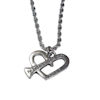 RTD-4022 - John 3:16 Bible Verse Heart-Shaped Nail Charm Necklace
