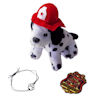 RTD-4030 - Plush Fire Dalmatian Puppy Dog w/ Paw Bracelet and Firefighter Patrol Badge Party Bag Set