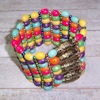 RTD-4033 - Wood Beaded Cuff Bracelet