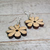 RTD-4038 - Wooden Flower Bead Dangle Earrings Set