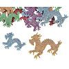 RTD-4079 - 500-Pack of Glitter Dragon Foam Shapes Stickers