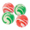 RTD-4101 - Christmas Red Swirl Green Swirl 1 Inch Bouncy Balls